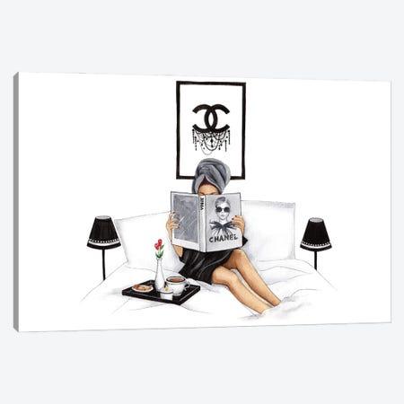 Morning With Vogue Canvas Print #LLN7} by LaLana Arts Canvas Artwork