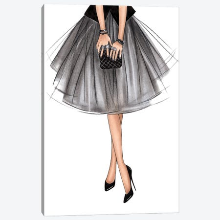 Tulle Skirt Canvas Print #LLN8} by LaLana Arts Canvas Print