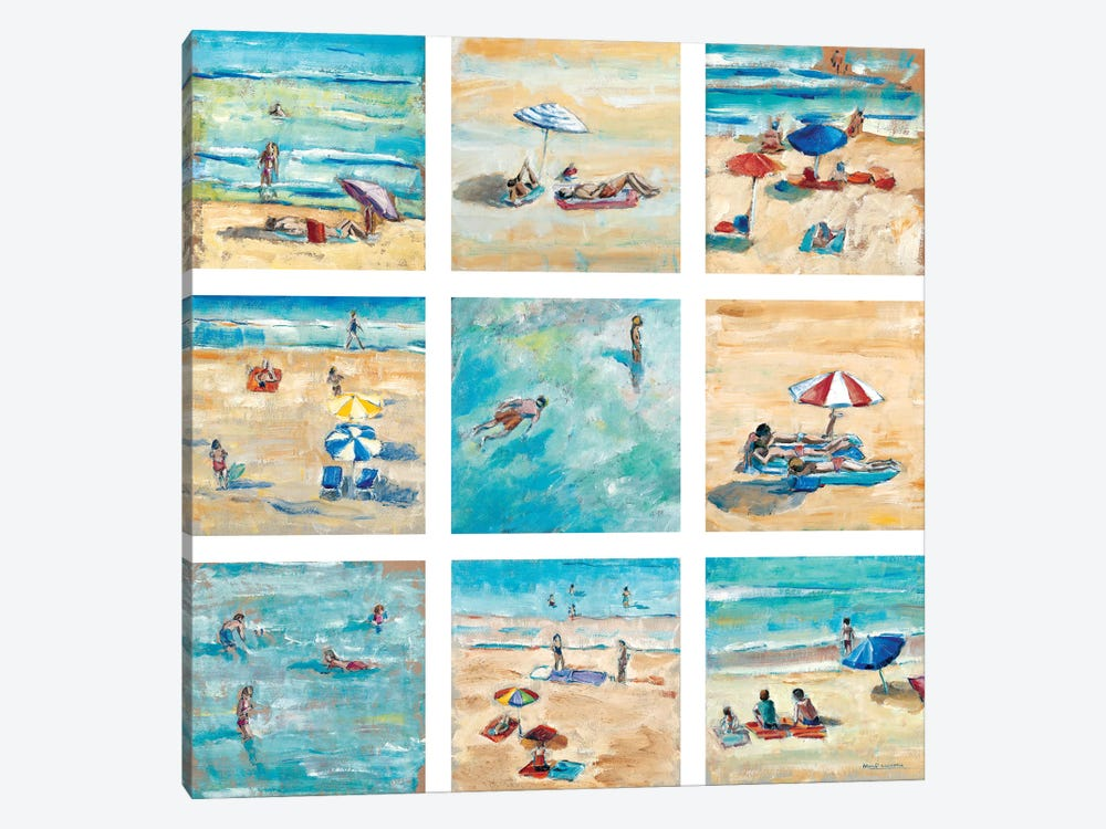 A Day At The Beach by Adolf Llovera 1-piece Canvas Wall Art