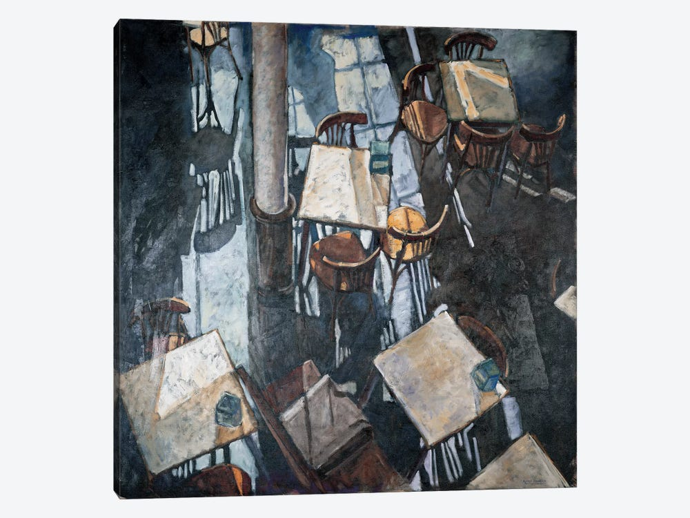 Shadows At The Zurich Café 1-piece Canvas Art Print