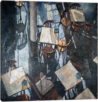 Shadows At The Zurich Café Canvas Art Print