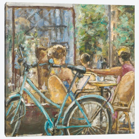 Cafe Paris V 3-Piece Canvas #LLO3} by Adolf Llovera Canvas Wall Art