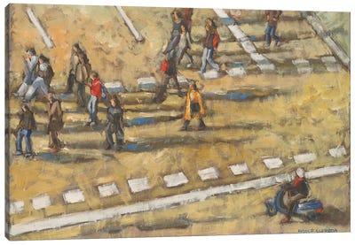 Taxis And Zebra Crosswalk III Canvas Art Print