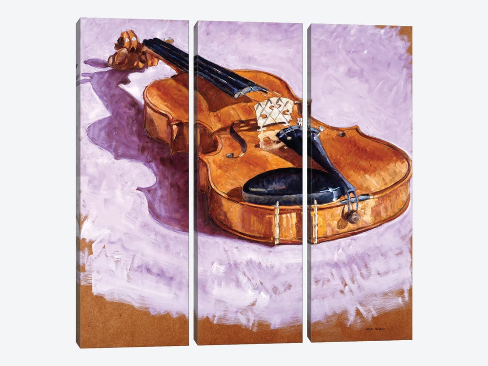 Violin by Adolf Llovera 3-piece Canvas Wall Art