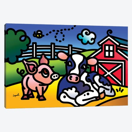 Farm Doodles I Canvas Print #LLP10} by Lisa Lopuck Canvas Art Print