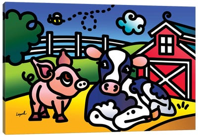 Farm Doodles I Canvas Art Print