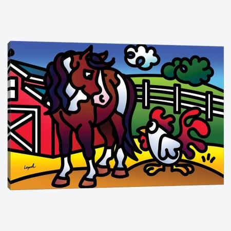 Farm Doodles II Canvas Print #LLP11} by Lisa Lopuck Canvas Print