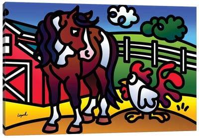 Farm Doodles II Canvas Art Print