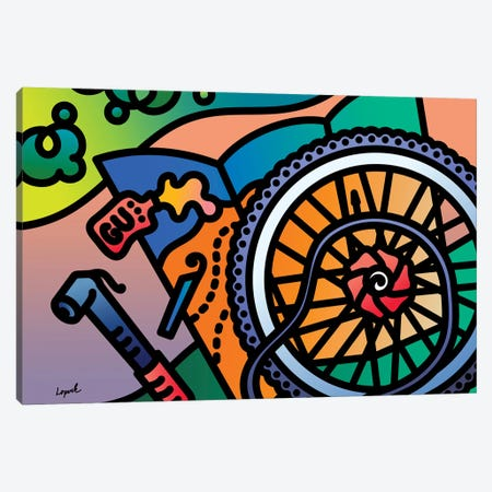 Fat Tire Canvas Print #LLP12} by Lisa Lopuck Art Print