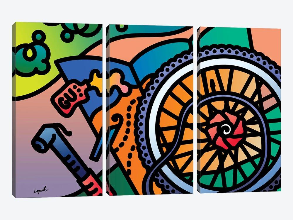 Fat Tire by Lisa Lopuck 3-piece Art Print
