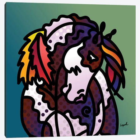 Indian Pony Canvas Print #LLP22} by Lisa Lopuck Canvas Artwork