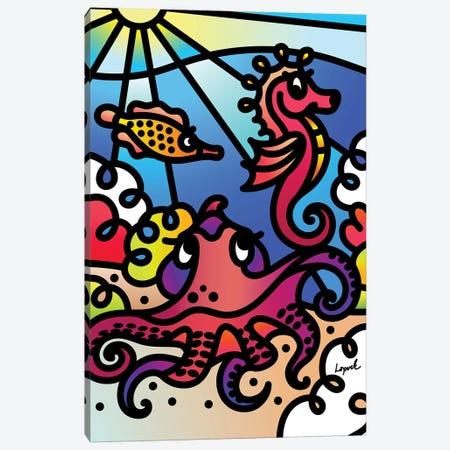 Sea II Canvas Print #LLP43} by Lisa Lopuck Canvas Art