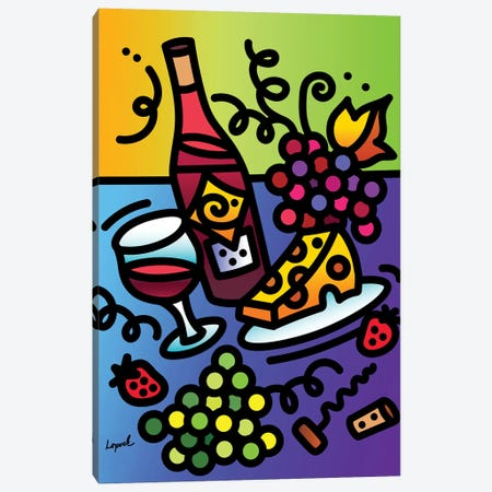 Tipsy Canvas Print #LLP50} by Lisa Lopuck Canvas Art Print