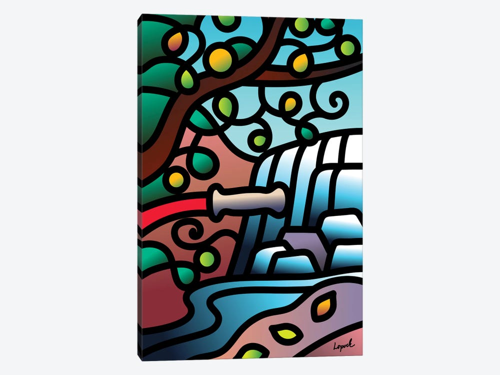 WaterBreak I by Lisa Lopuck 1-piece Canvas Art Print