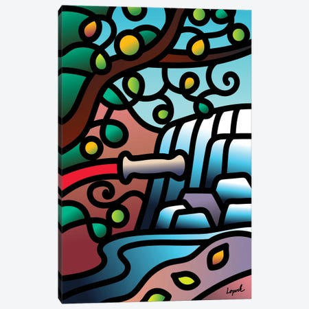 WaterBreak I Canvas Print #LLP54} by Lisa Lopuck Canvas Artwork