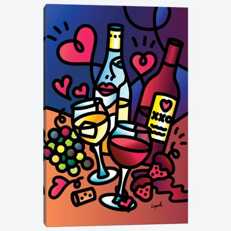 Wine Lover Canvas Print #LLP57} by Lisa Lopuck Canvas Artwork