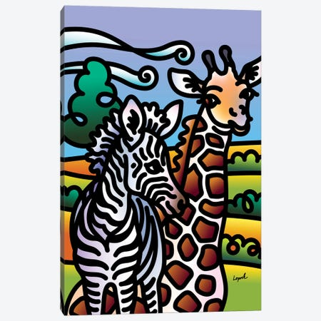 Zoo I 3-Piece Canvas #LLP58} by Lisa Lopuck Art Print