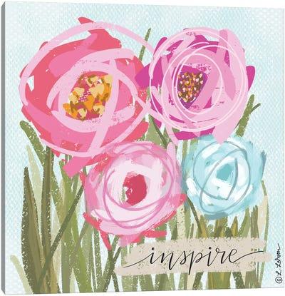 Floral Inspire Canvas Art Print