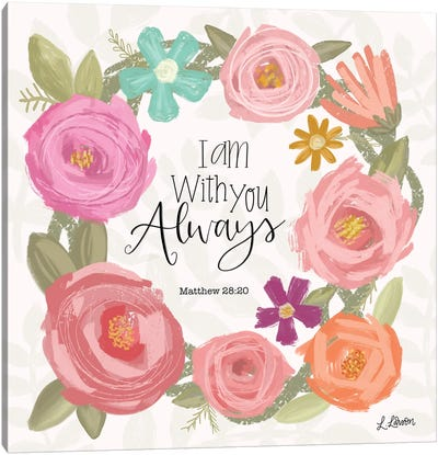 I Am With You Always Canvas Art Print