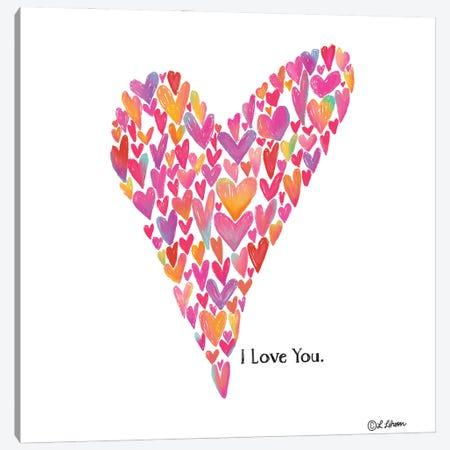 I Love You Heart Canvas Print #LLR17} by Lisa Larson Canvas Artwork