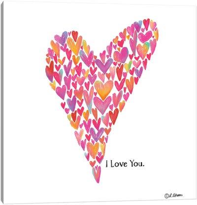 I Love You Heart Canvas Art Print