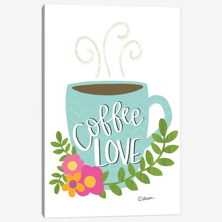 Coffee Love Canvas Print #LLR1} by Lisa Larson Canvas Wall Art