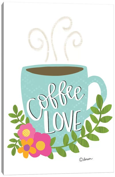 Coffee Love Canvas Art Print