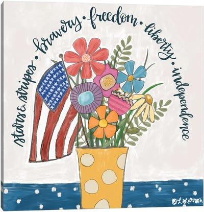 Patriotic Flower Pot Canvas Art Print