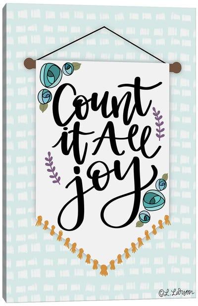 Count It Are Joy Canvas Art Print