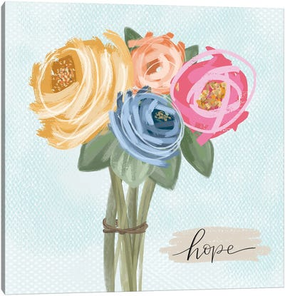 Floral Hope Canvas Art Print