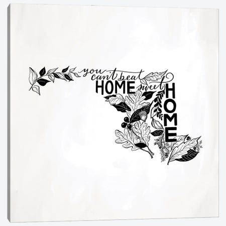 Home Sweet Home Maryland B&W Canvas Print #LLV100} by Lily & Val Canvas Art Print