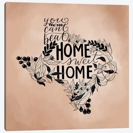 Home Sweet Home Texas - Color Canvas Print #LLV106} by Lily & Val Canvas Art