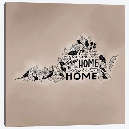 Home Sweet Home Virginia - Color Canvas Print #LLV108} by Lily & Val Canvas Art Print