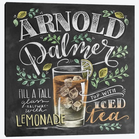 Arnold Palmer Recipe Canvas Print #LLV10} by Lily & Val Art Print