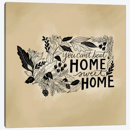 Home Sweet Home Washington - Color Canvas Print #LLV110} by Lily & Val Canvas Artwork