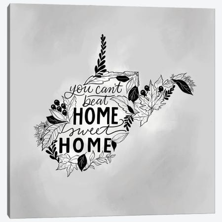 Home Sweet Home West Virginia - Color Canvas Print #LLV112} by Lily & Val Canvas Wall Art