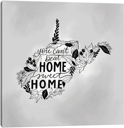 Home Sweet Home West Virginia - Color Canvas Art Print