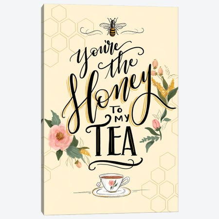 Honey To My Tea Canvas Print #LLV114} by Lily & Val Canvas Art Print