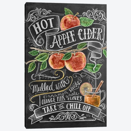 Hot Apple Cider Recipe Canvas Print #LLV115} by Lily & Val Art Print