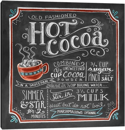 Hot Cocoa Recipe Canvas Art Print