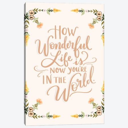 How Wonderful Life Is - Girl Canvas Print #LLV118} by Lily & Val Canvas Art