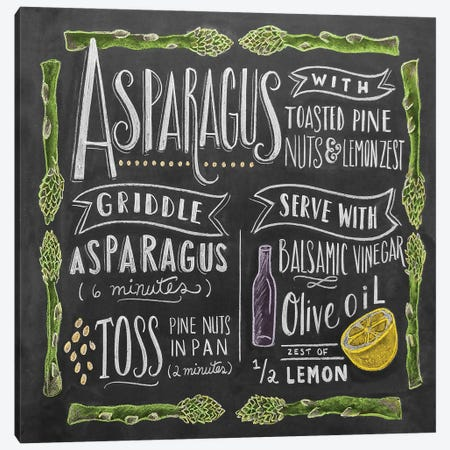 Asparagus Recipe 3-Piece Canvas #LLV11} by Lily & Val Canvas Print