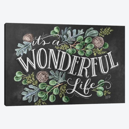It's A Wonderful Life Canvas Print #LLV122} by Lily & Val Canvas Print