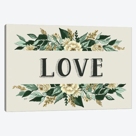 Love Botanical Canvas Print #LLV141} by Lily & Val Canvas Print