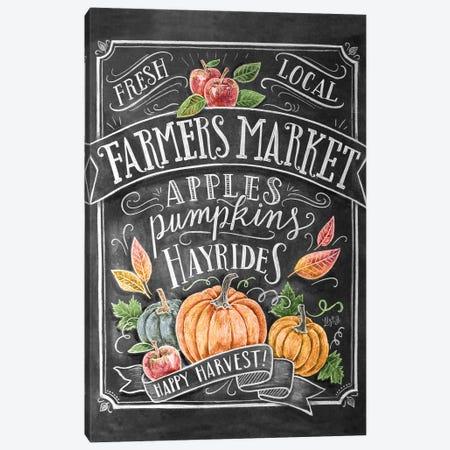 Autumn Farmers Market Canvas Print #LLV14} by Lily & Val Canvas Art