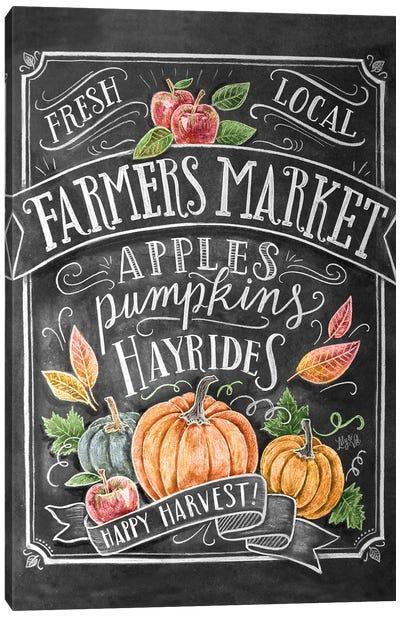 Autumn Farmers Market Canvas Art Print