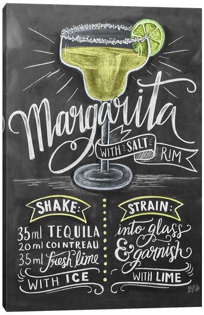 Margarita Recipe Canvas Art Print