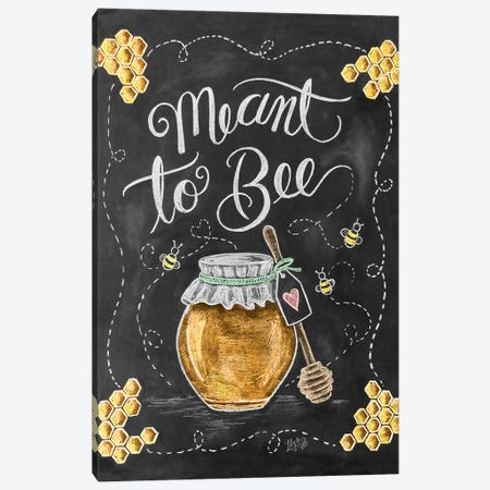 Meant To Bee Canvas Print #LLV152} by Lily & Val Canvas Art
