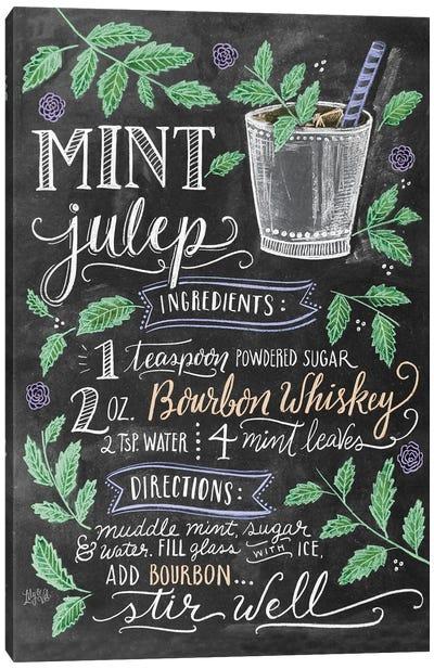 Mint Julep Recipe Canvas Art Print