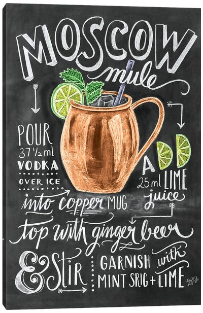 Moscow Mule Recipe Canvas Art Print